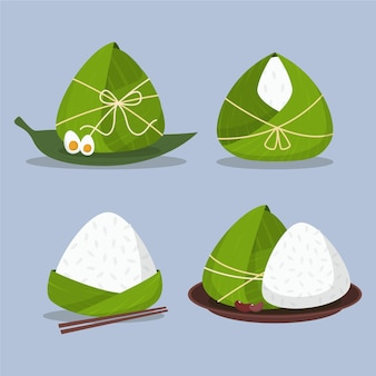 Collection dragon boat zongzi