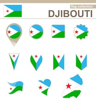 Collection drapeau djibouti, 12 versions