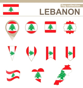 Collection drapeau liban, 12 versions