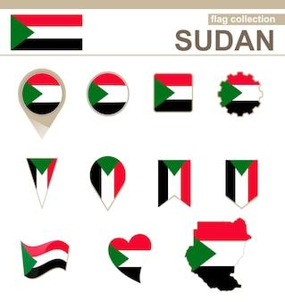 Collection drapeau soudan, 12 versions