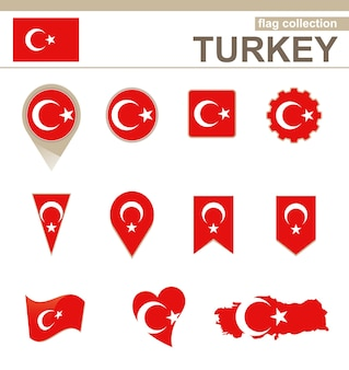 Collection drapeau turquie, 12 versions