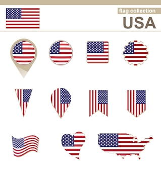 Collection drapeau usa, 12 versions