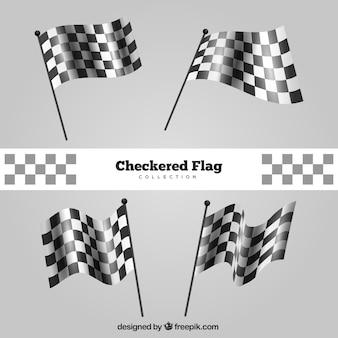 Collection de drapeaux à carreaux