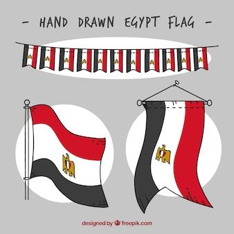 Collection de drapeaux d'egypte