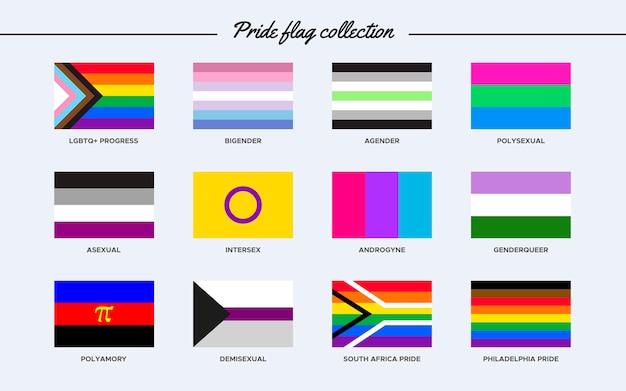 Collection de drapeaux de fierté