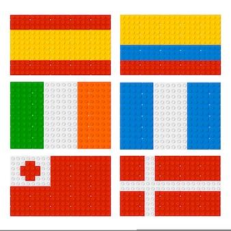 Collection de drapeaux lego