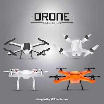 Collection de drone gris réaliste