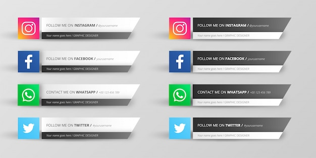 Collection du tiers inférieur des médias sociaux modernes