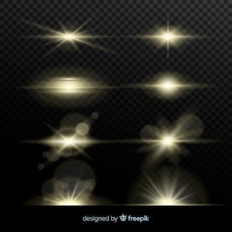 Collection d'éclats de lumière réalistes
