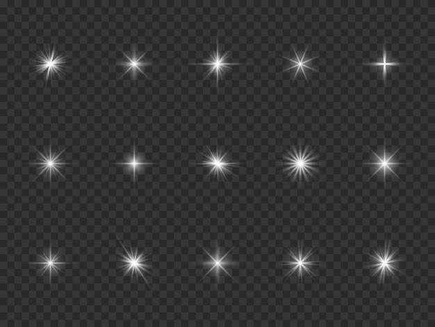 Collection d'éclats de lumière