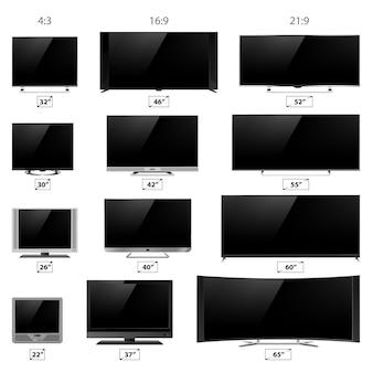 Collection d'écrans de télévision