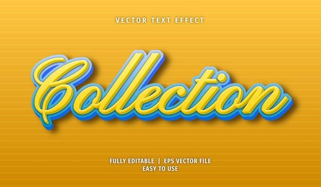 Collection effet de texte style de texte modifiable