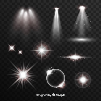 Collection d'effets de lumière blanche