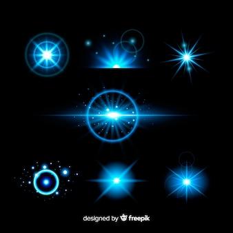 Collection d'effets de lumière de technologie