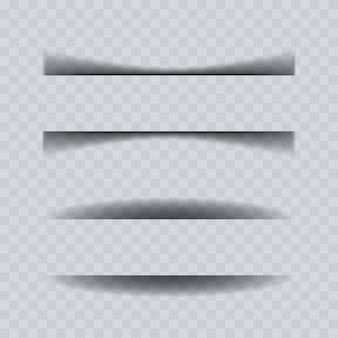 Collection d'effets d'ombre de feuille de papier.