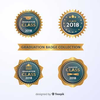 Collection élégante de badges de graduation