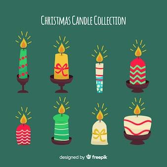 Collection élégante de bougies de noël