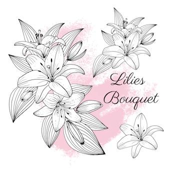 Collection élégante de fleurs de lys