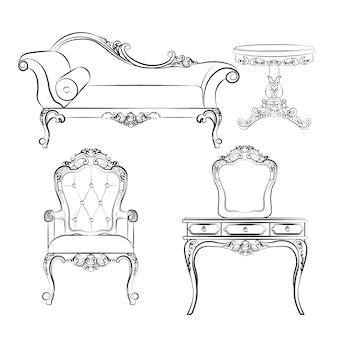 Collection élégante de mobilier