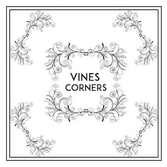 Collection élégante de vignes cornes