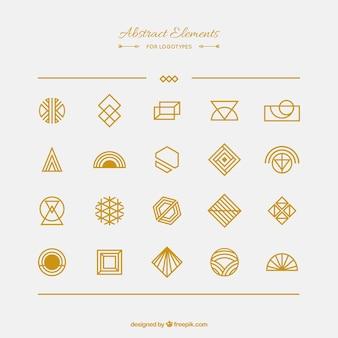 Collection d'éléments abstraite pour logotypes