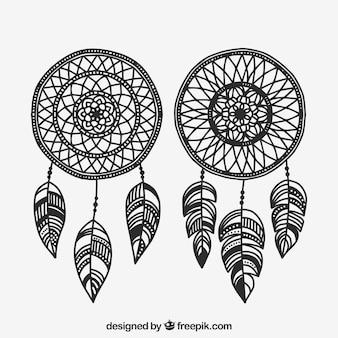 Collection d'éléments boho dessinés à la main