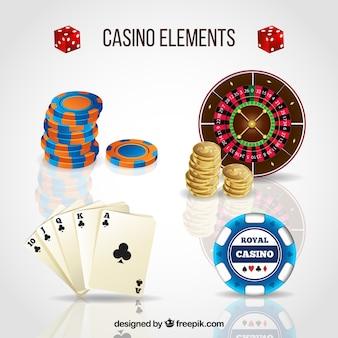 Collection d'éléments de casino