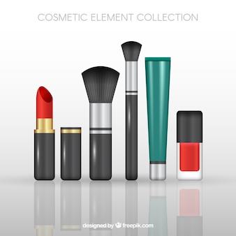 Collection d'éléments cosmétiques réalistes