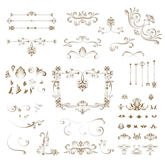 Collection d'éléments décoratifs