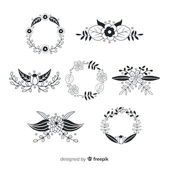 Collection d'éléments de décoration dessinés à la main