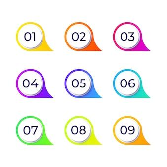 Collection d'éléments de design colorés