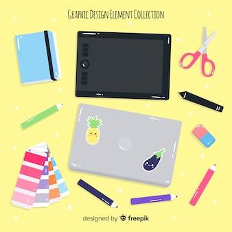 Collection d'éléments de design graphique