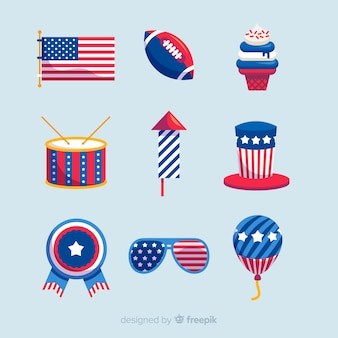 Collection d'éléments du 4 juillet
