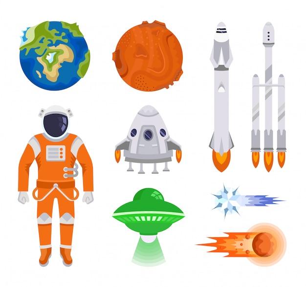 Collection d'éléments de l'espace