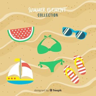Collection d'éléments d'été