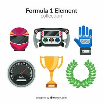 Collection d'éléments de formule 1