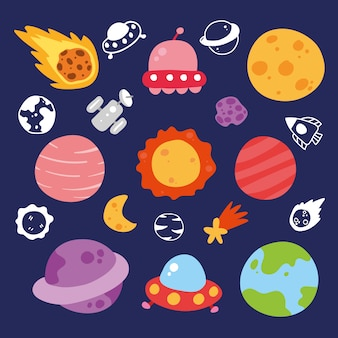 Collection d'éléments galaxy