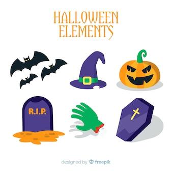 Collection d'éléments de halloween créatifs