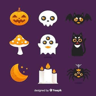 Collection d'éléments halloween drôle