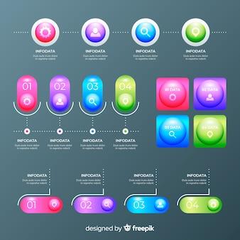 Collection d'éléments infografic