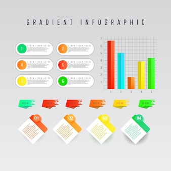 Collection d'éléments d'infographie créative moderne.