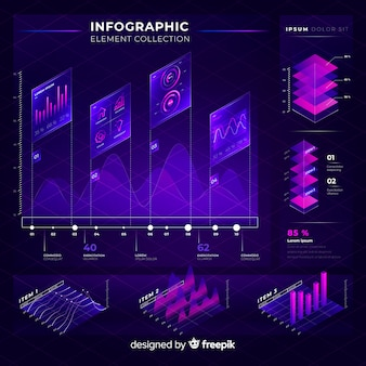 Collection d'éléments d'infographie moderne
