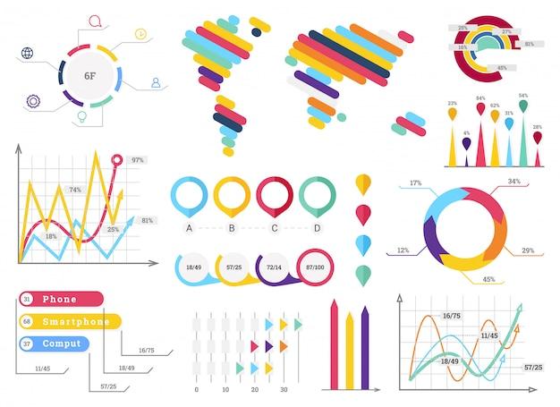 Collection d'éléments d'infographie