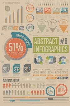 Collection d'éléments infographiques commerciaux