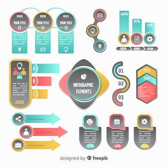 Collection d'éléments infographiques dans un style plat