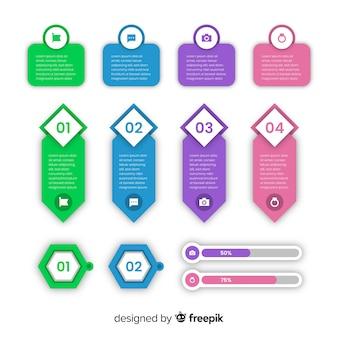 Collection d'éléments infographiques design plat