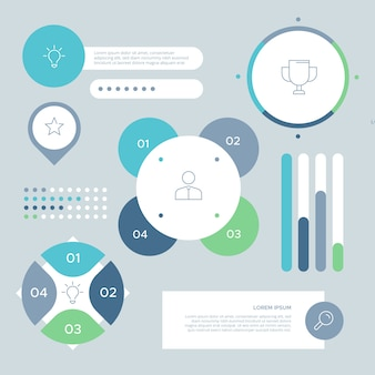 Collection d'éléments infographiques d'entreprise