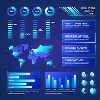 Collection d'éléments infographiques futuristes