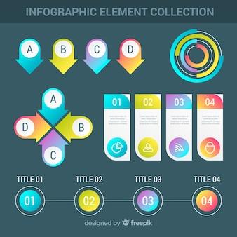 Collection d'éléments infographiques moderne avec style dégradé