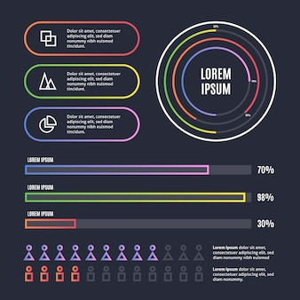 Collection d'éléments infographiques